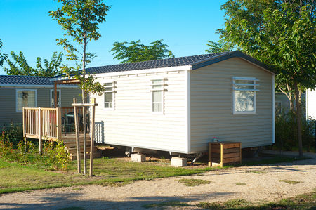 Buying mobile homes with mortgage loans.